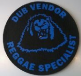 Dub Vendor Reggae Specialist Slipmat (Black background Blue print)
